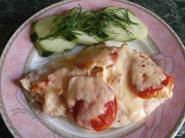 Куриная грудка, запеченная с сыром