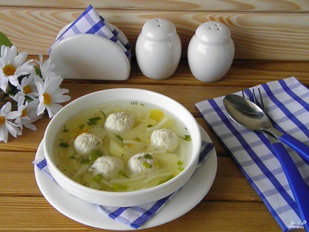 суп с фрикадельками пошаговый рецепт с вермишелью для ребенка