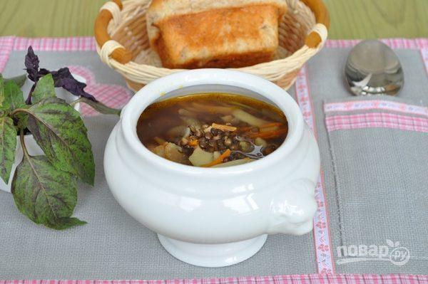 Суп из черной чечевицы