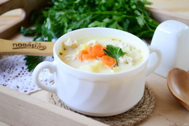 Сырный суп с морковкой