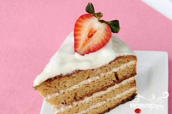 Торт из сметаны с глазурью