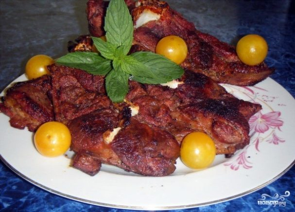Алыча с мясом
