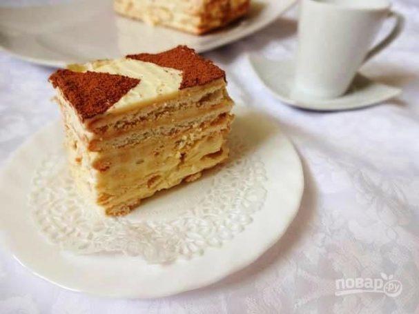 Быстрый торт с заварным кремом