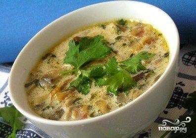 Грибной суп из замороженных подберезовиков