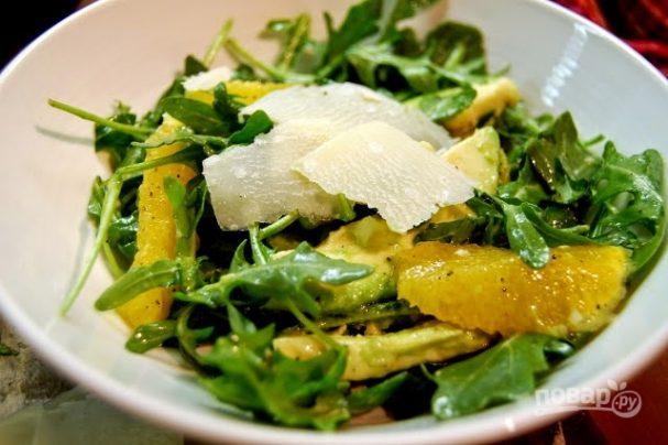 Салат с авокадо простой