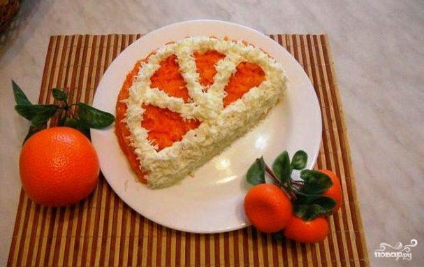 Салат долька апельсин рецепт с пошагово