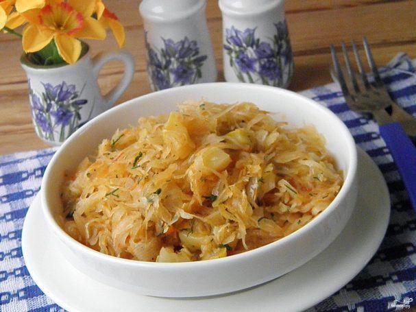 Солянка с кабачками и капустой