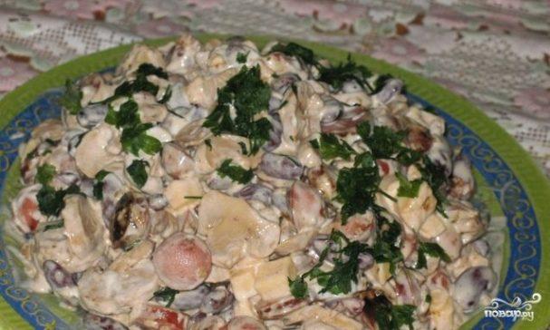 Салат из сосисок