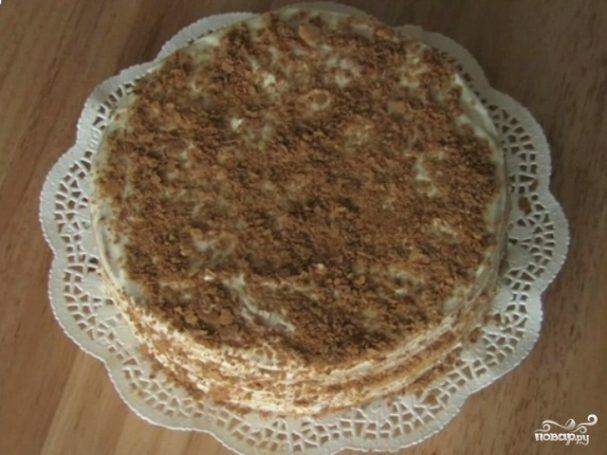 Торт наполеон классический со сгущенкой