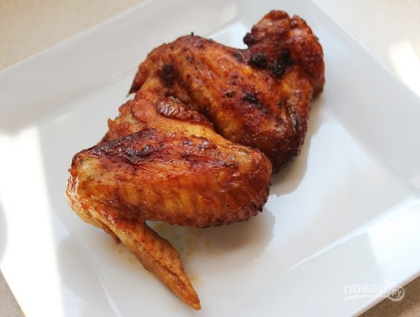 Куриные крылышки под медовым соусом