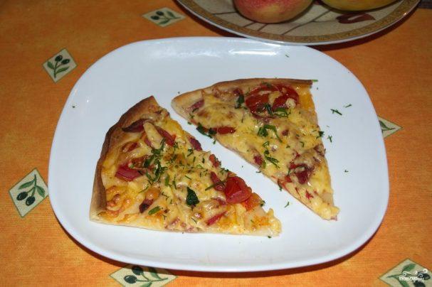 Пицца на дрожжевом тесте в духовке