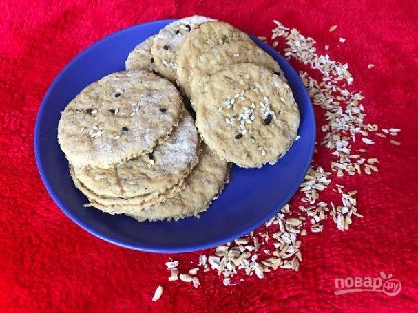 Быстрое галетное печенье с отрубями