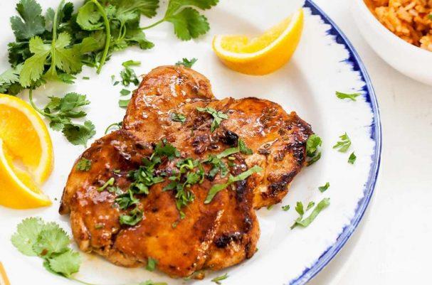 Куриное мясо в апельсиновом маринаде