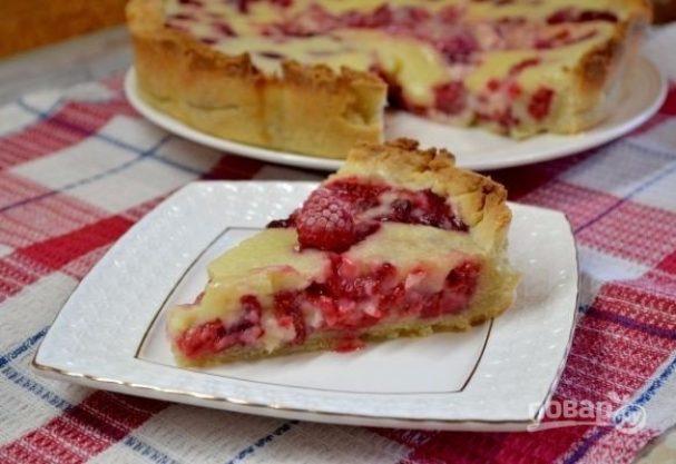 """""""Цветаевский пирог"""" с замороженными ягодами"""