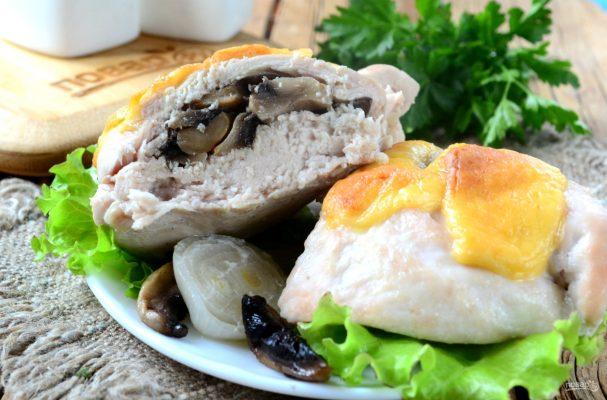 Рецепт куриного филе с грибами с пошаговыми
