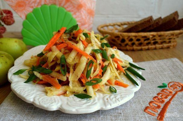Салат из сельдерея равным образом моркови