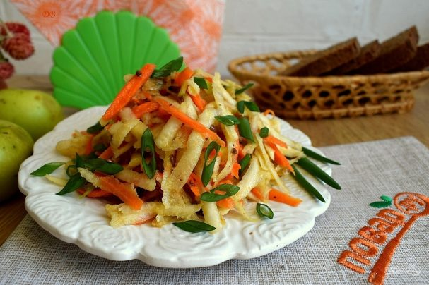 рецепт салат из моркови сельдерея