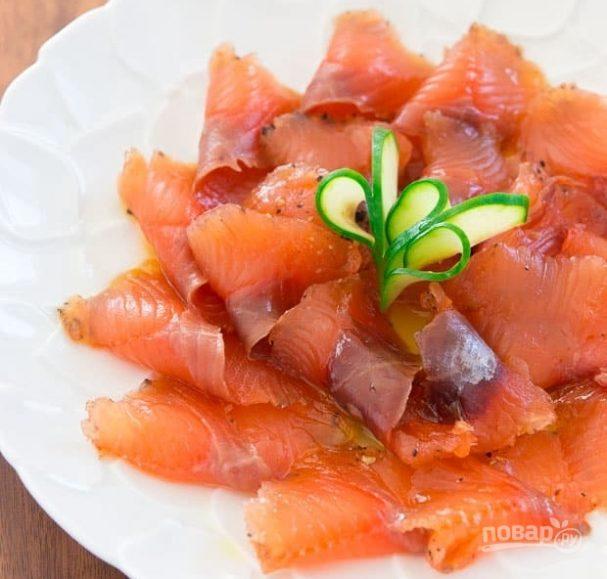 Закуска из слабосоленого лосося