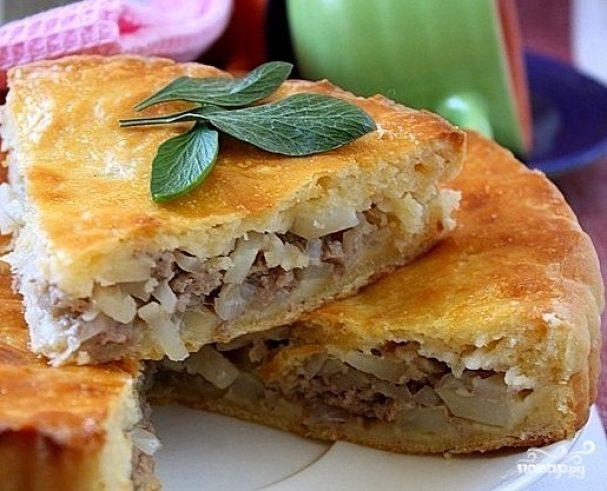 Мясной пирог на быструю руку рецепт