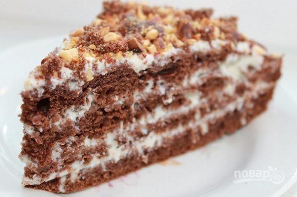 Тортик на кефире быстрый и вкусный рецепт