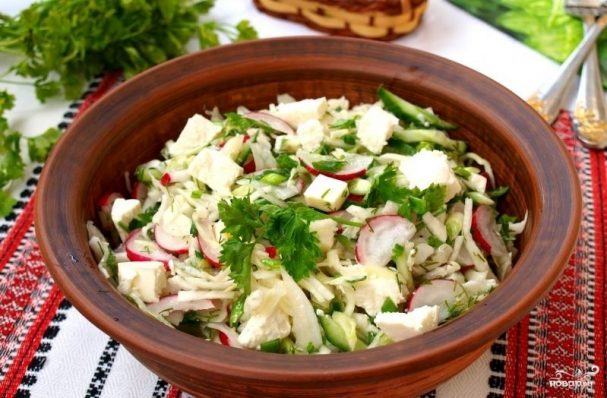Салат к семге
