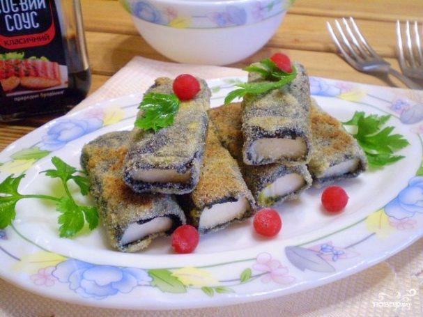 Вегетарианская жареная рыба