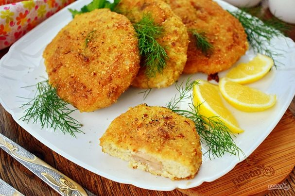 Рыбные зразы с печенью трески