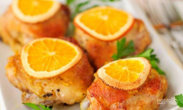 Рецепт курицы с апельсинами в духовке