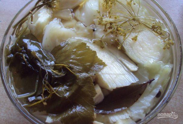 Белокочанная капуста маринованная