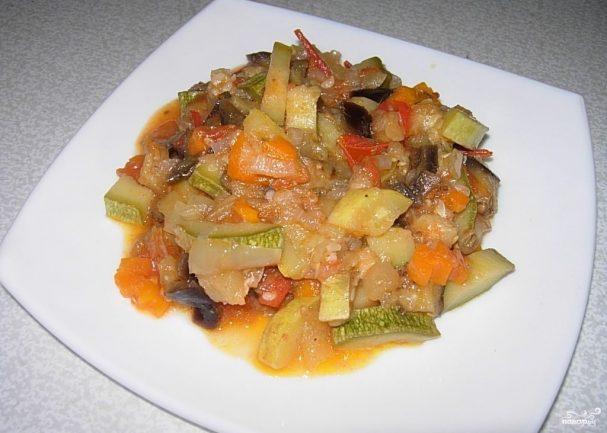 Овощное рагу со сметаной
