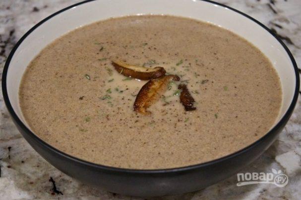 Грибной суп-пюре на сливках