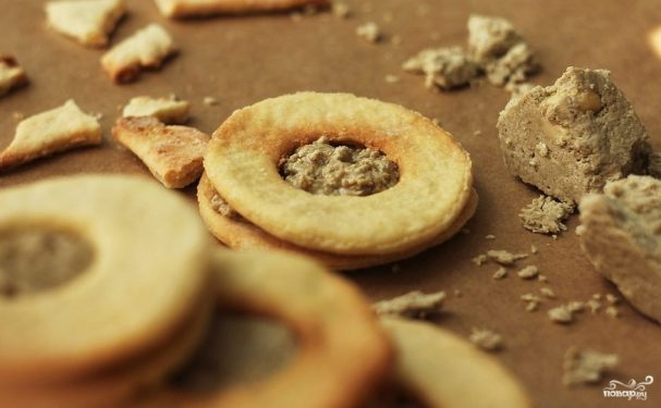 Печенье с халвой