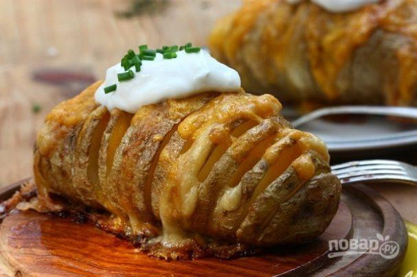 Картофельный веер с сыром