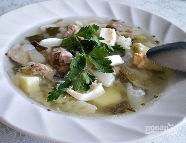 Суп из щавеля и капусты