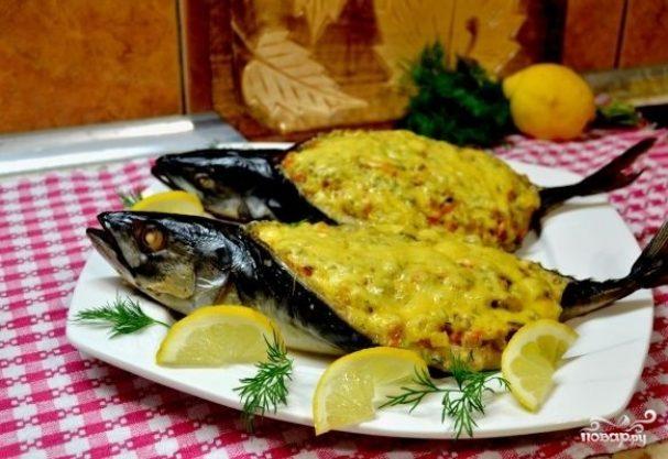 Рыба, запеченная с рисом