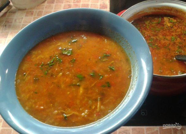 """Куриный суп """"Харчо"""""""