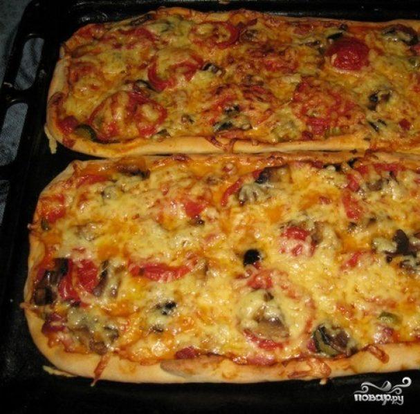 Рецепт пиццы в домашних условиях ассорти