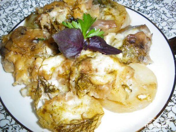 Треска с картофелем и пастернаком