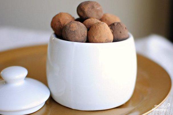 Шоколадные трюфели с корицей и кофе