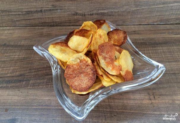 Картофельные чипсы на сковороде рецепт пошагово в домашних условиях 72