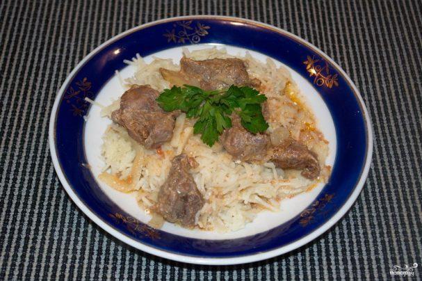 Мясо под соусом