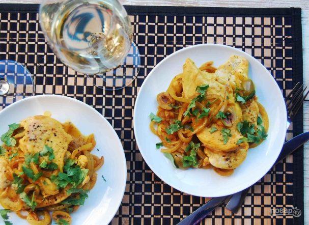 Курица по-мароккански с оливками