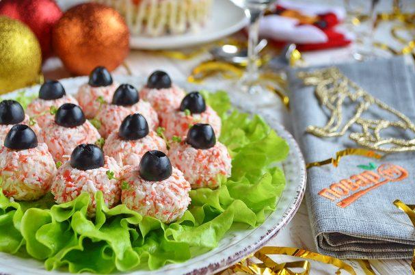"""Салат-закуска """"Ёлочные шарики"""""""