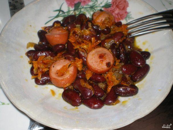 Сосиски с фасолью