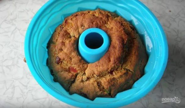 Имбирный кекс с изюмом и цукатами без сахара
