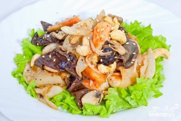Крабово-грибной салат