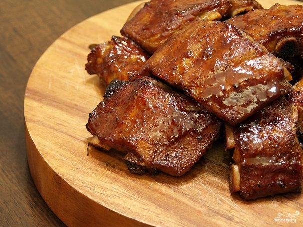 свиные ребрышки с медом в духовке рецепт