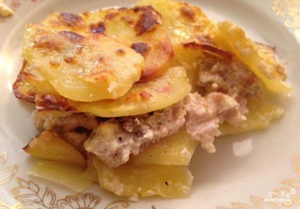 Картофельная лазанья с фаршем