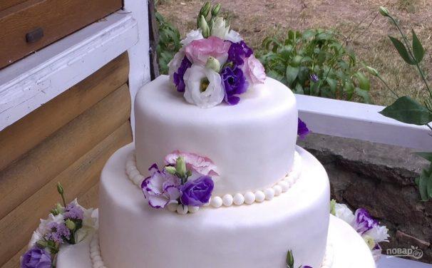 Свадебный торт в домашних условиях