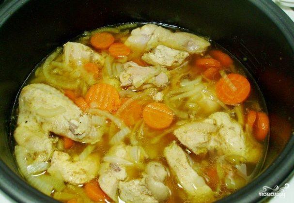 Тушеные овощи с курицей рецепт пошагово